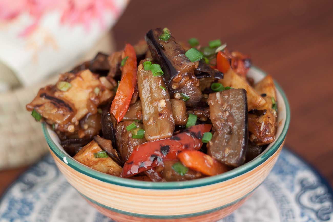 Shandong spicy eggplant with peppers and potato recipe di san xian shandong spicy eggplant with peppers and potato recipe di san xian recipe forumfinder Image collections