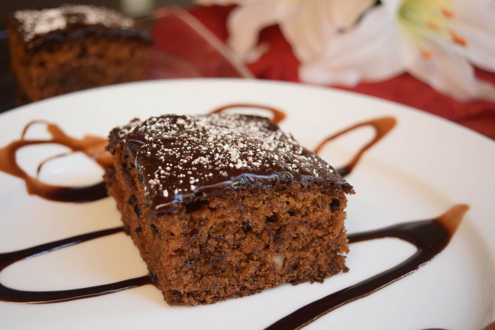 Eggless Whole Wheat Cake with Chocolate Buttercream Frosting ...
