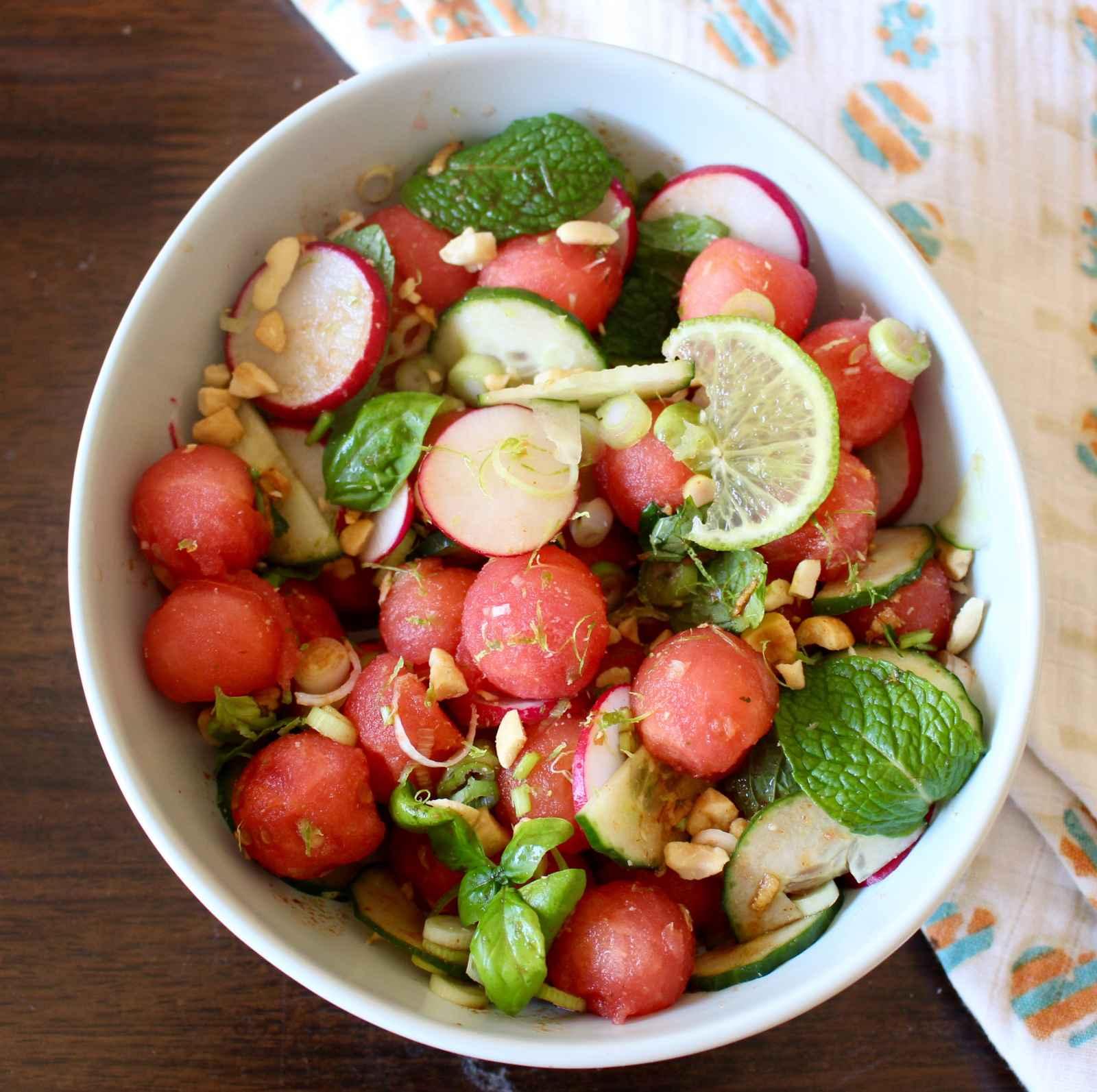 asian watermelon salad recipe by archana u0027s kitchen simple