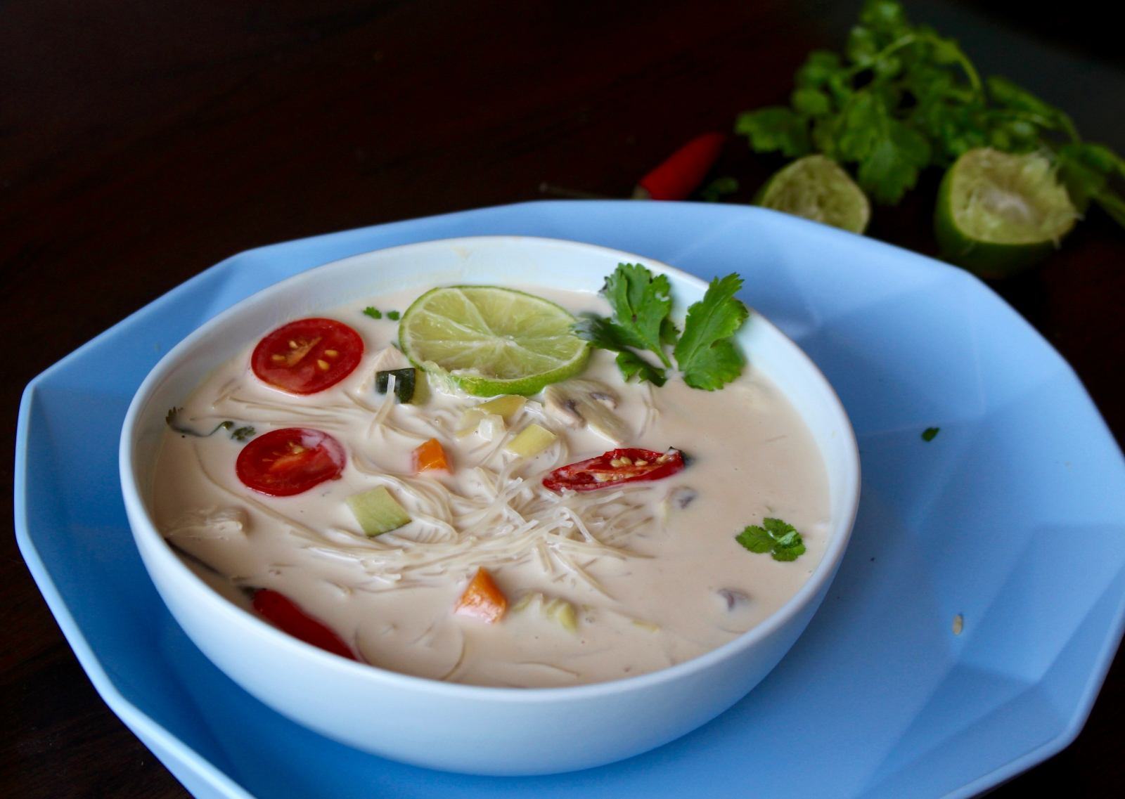 Vegetable Coconut Milk Soup With Vermicelli Noodles Recipe