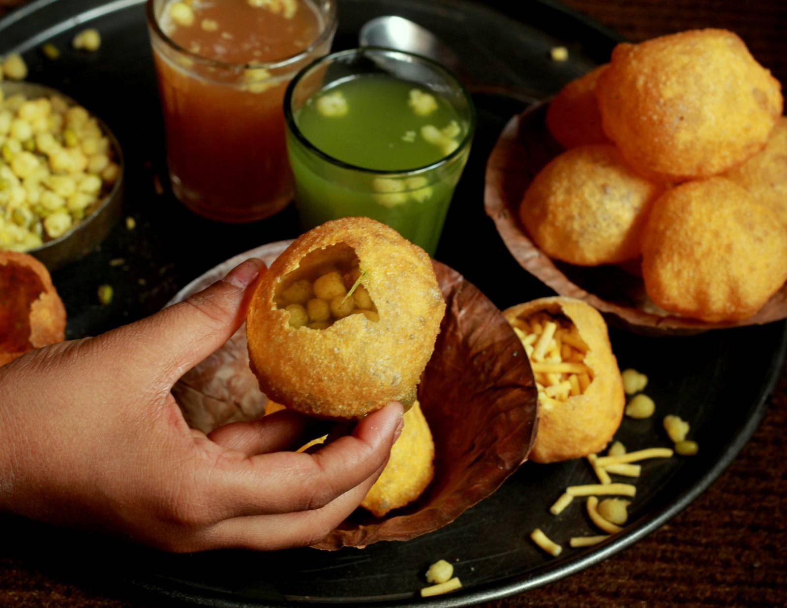 Mumbai style sukha pani puri recipe by archanas kitchen mumbai style sukha pani puri recipe forumfinder Choice Image