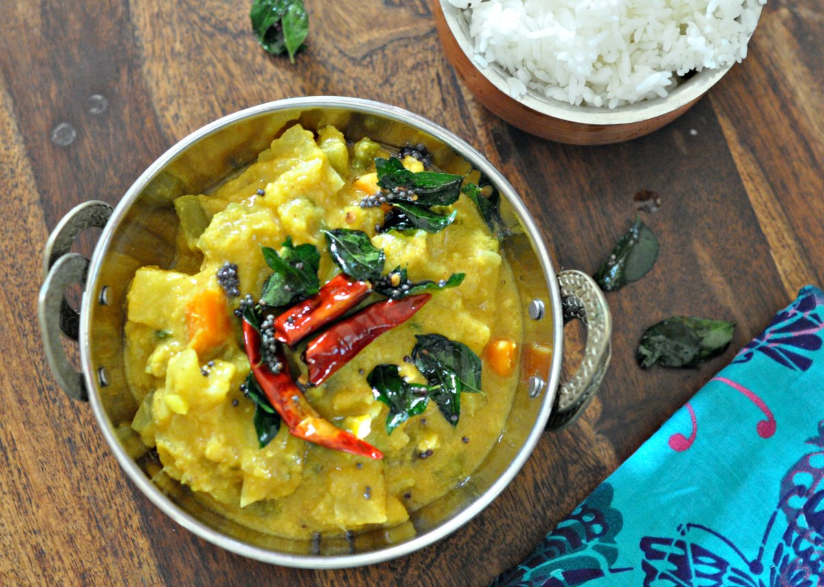 by archanas kitchen vegetables in coconut gravy recipe in hindi forumfinder Image collections