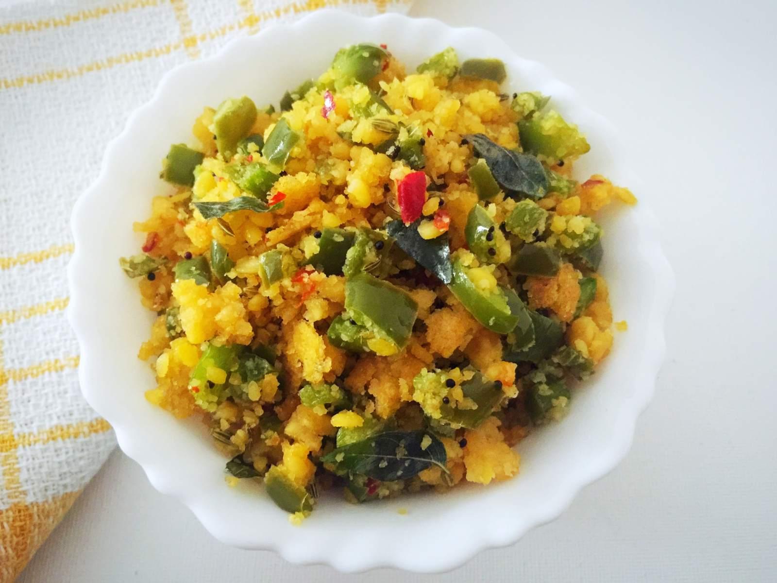 Capsicum usili recipe tamil nadu style capsicum cooked with capsicum usili recipe tamil nadu style capsicum cooked with lentils spice mix forumfinder Images
