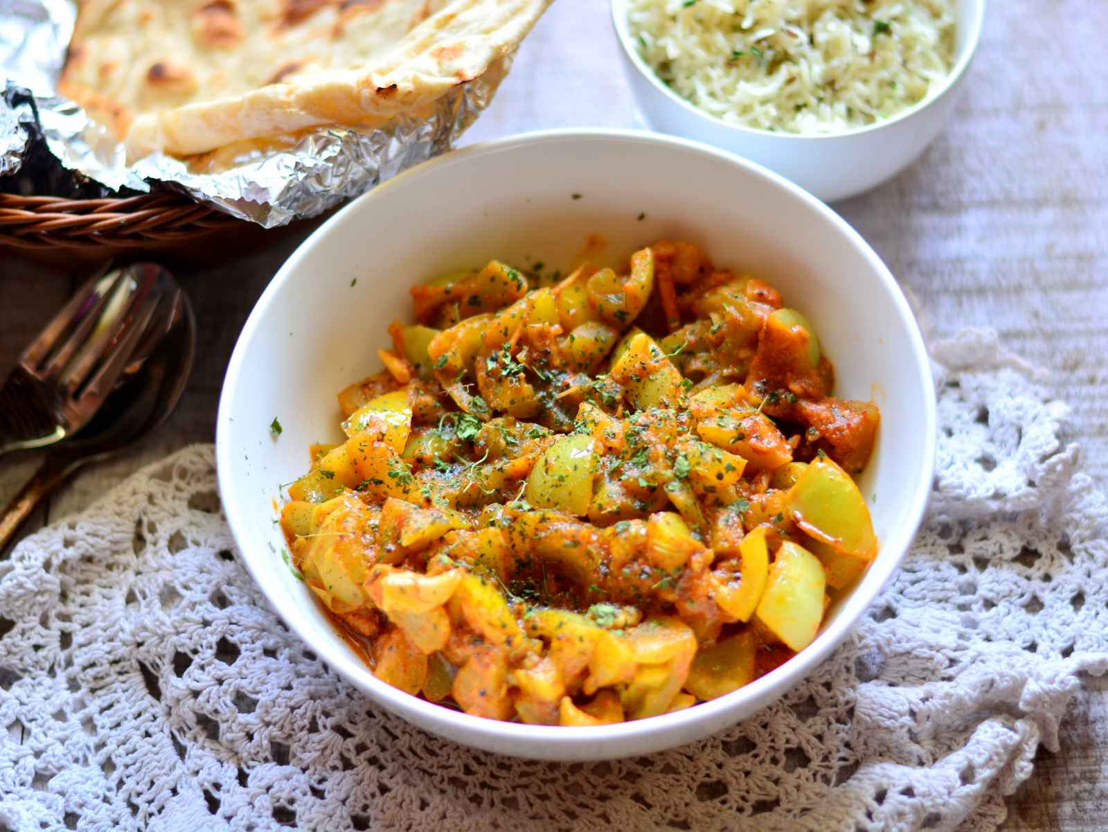 Hare tamatar ki sabzi recipe by archanas kitchen hare tamatar ki sabzi recipe raw tomato curry forumfinder Images