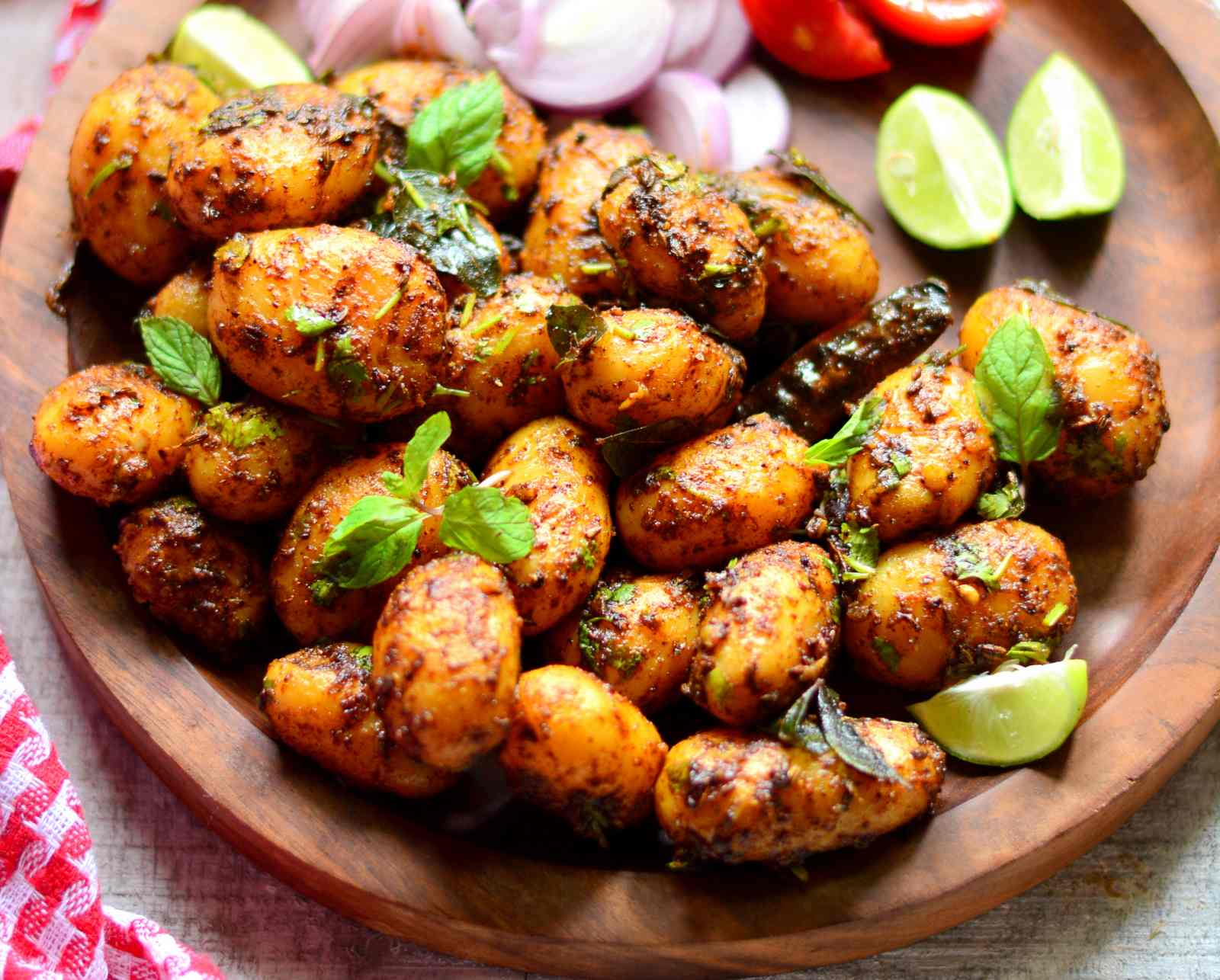 Spicy baby potatoes recipe by archanas kitchen spicy baby potatoes recipe forumfinder Gallery