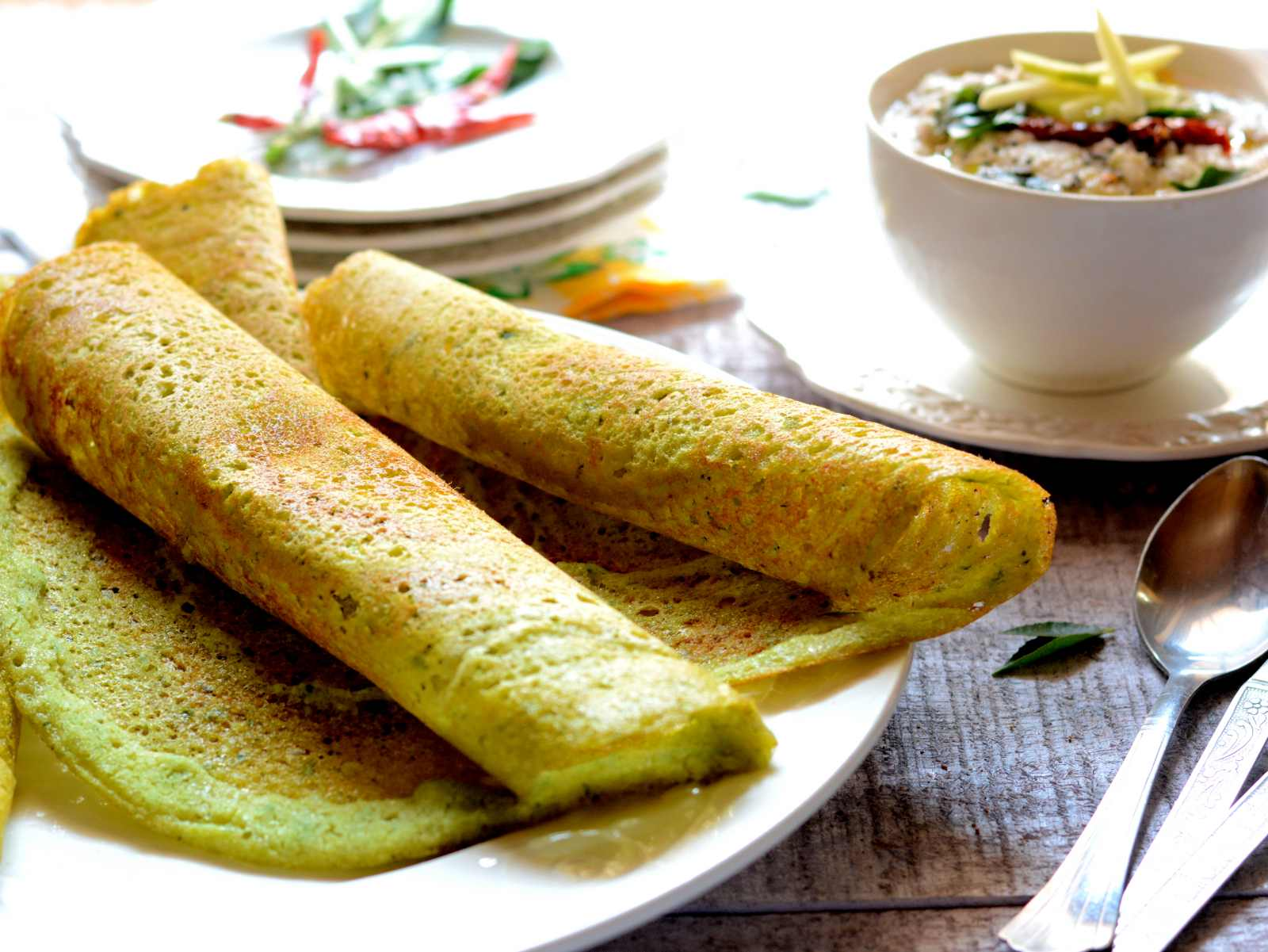 Spinach and coriander dosa recipe by archanas kitchen spinach and coriander dosa recipe forumfinder Image collections