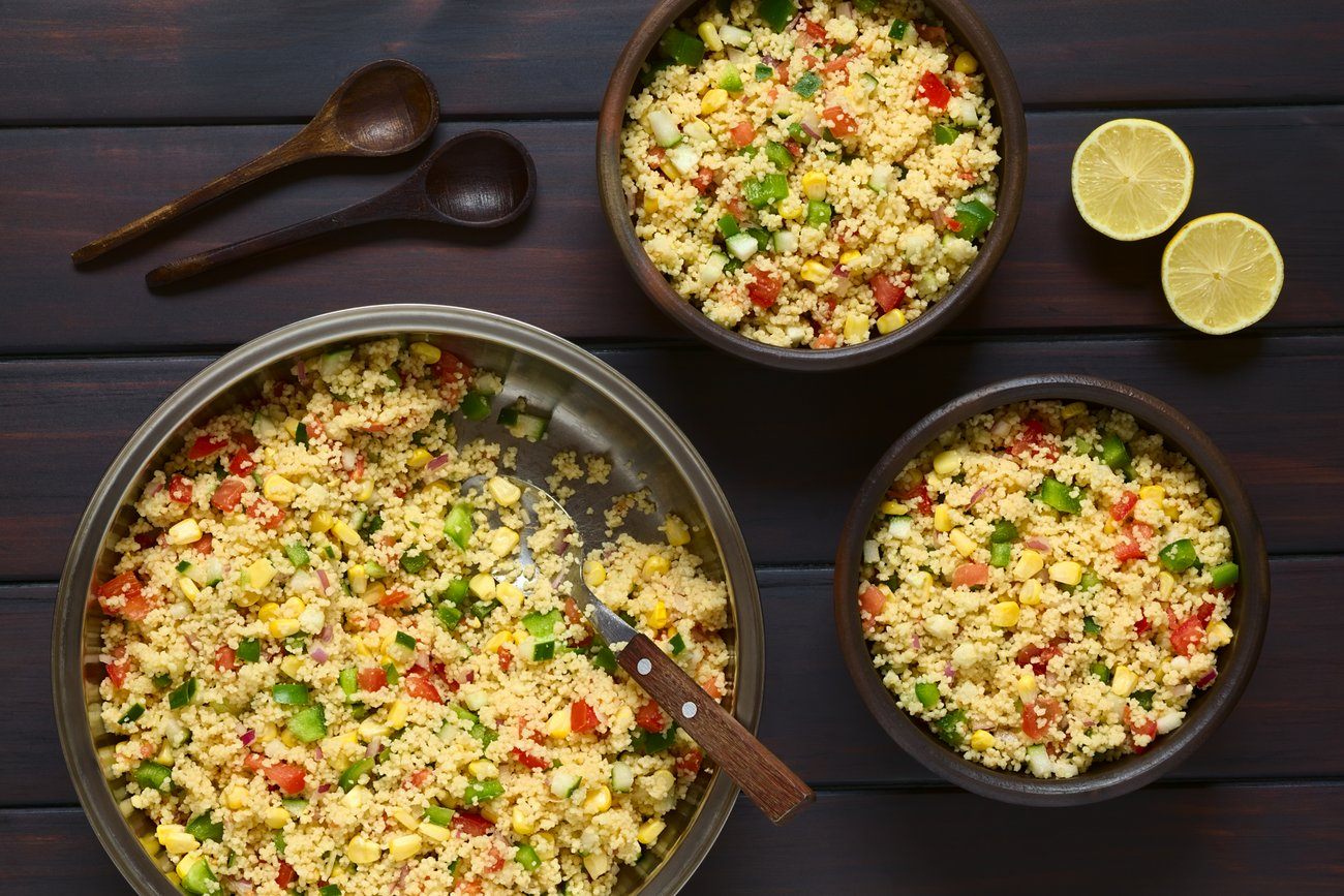 Israeli Couscous Salad Recipe by Archana's Kitchen - Simple ...