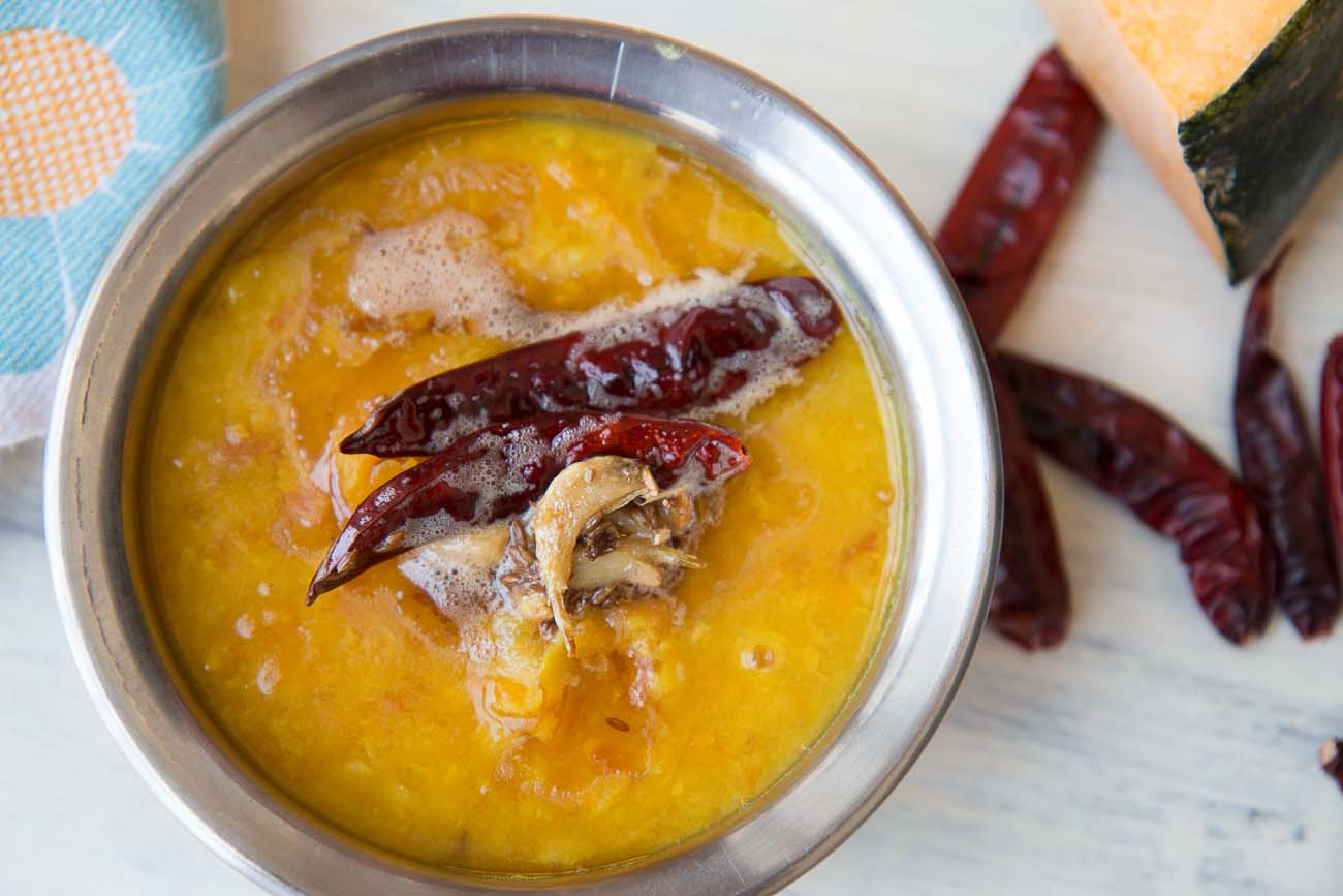 Lahsuni dal tadka moong dal with pumpkin by archanas kitchen lahsuni dal tadka moong dal with pumpkin forumfinder Images