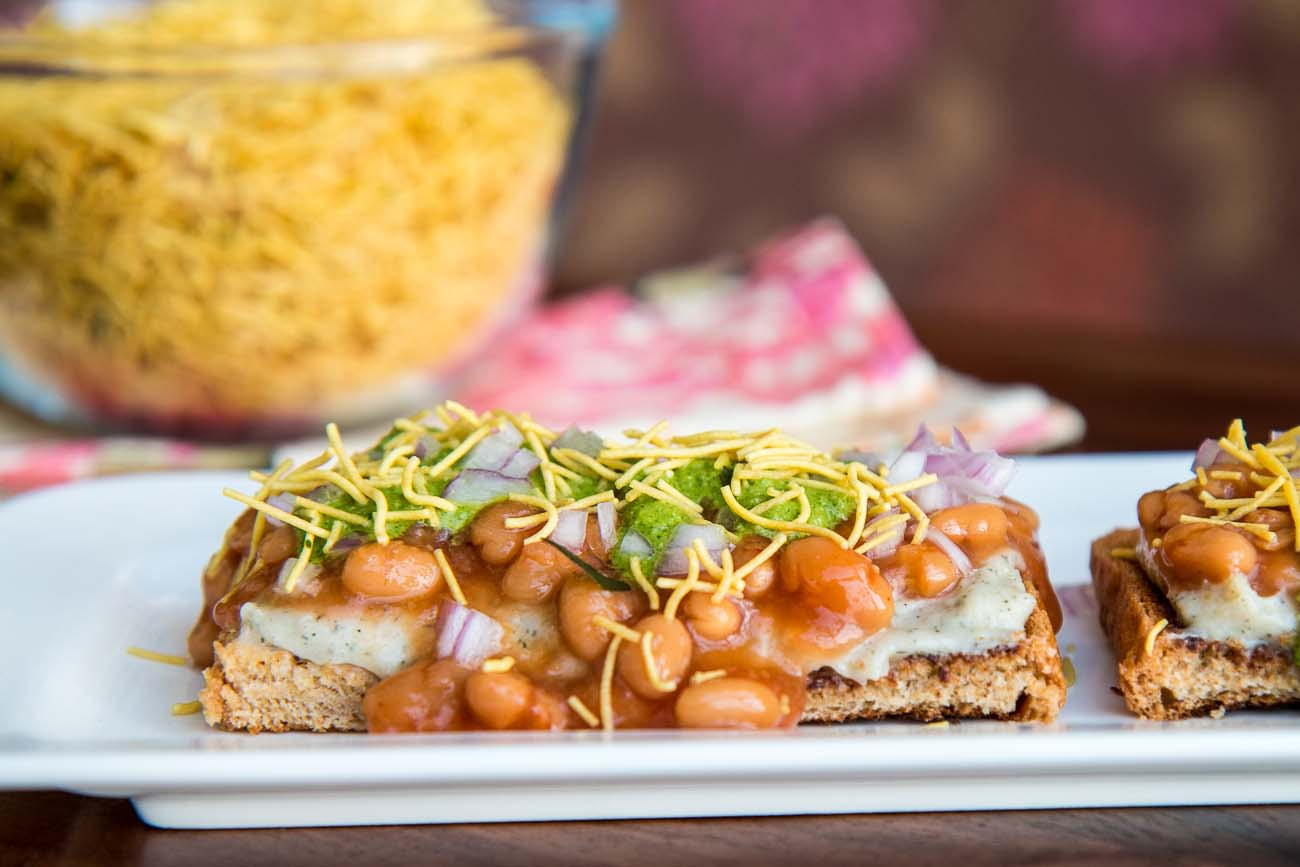 Indian Vegetarian Dinner Party Menu Ideas Part - 27: Baked Beans U0026 Potatoes Chaat Recipe