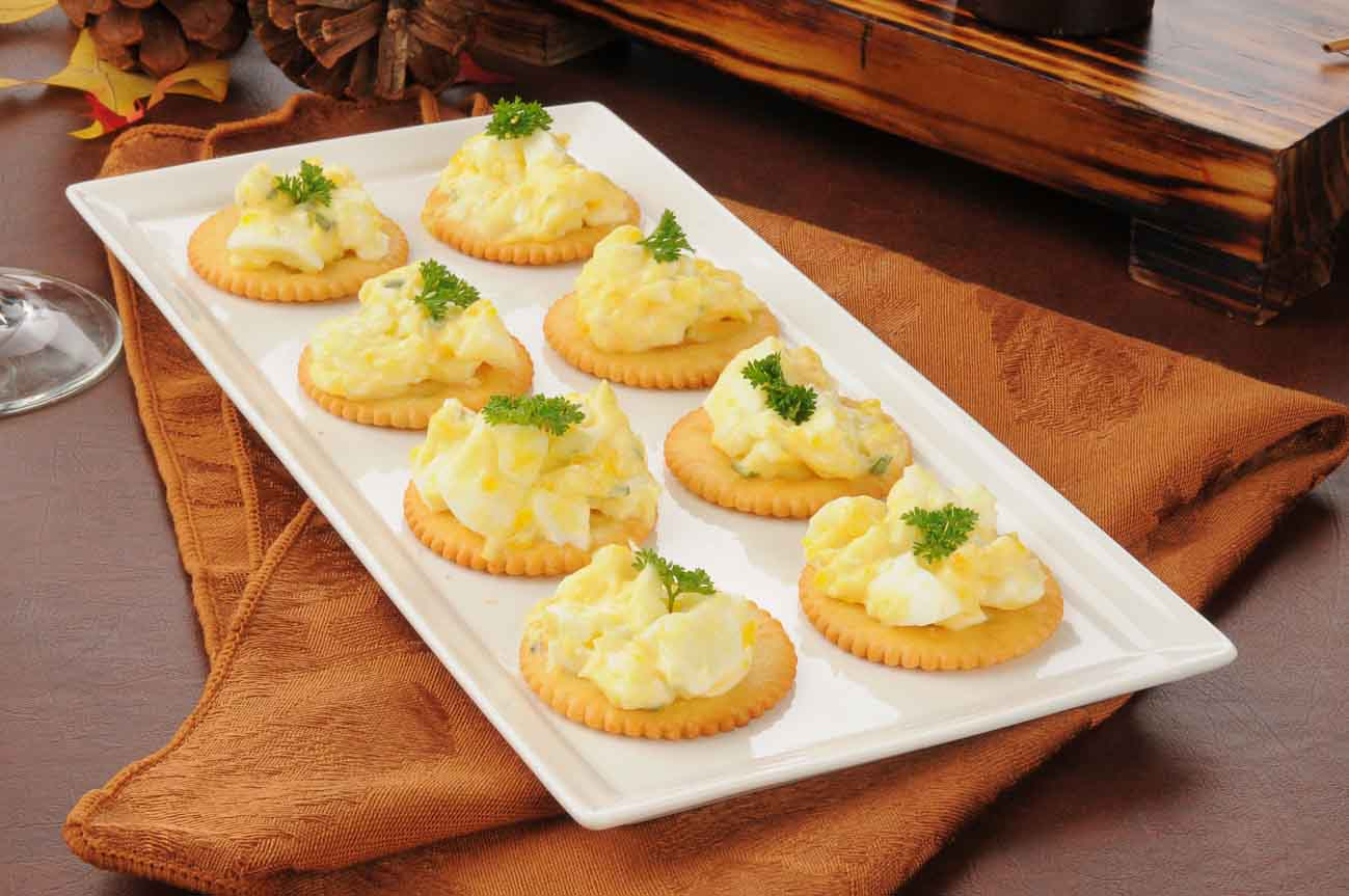 Herbed Egg Canape Recipe With Dijon Mustard