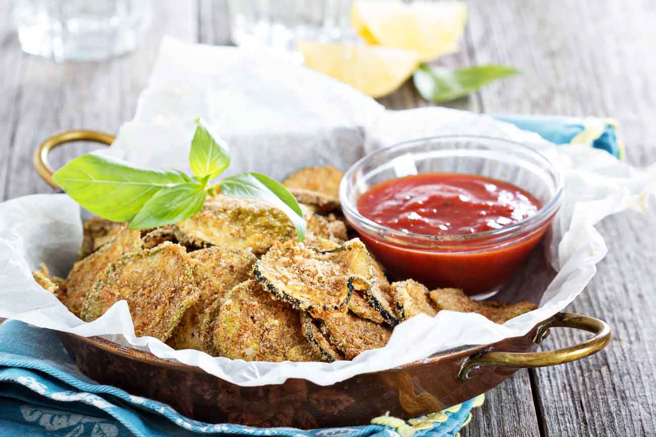 Courgette chips airfryer