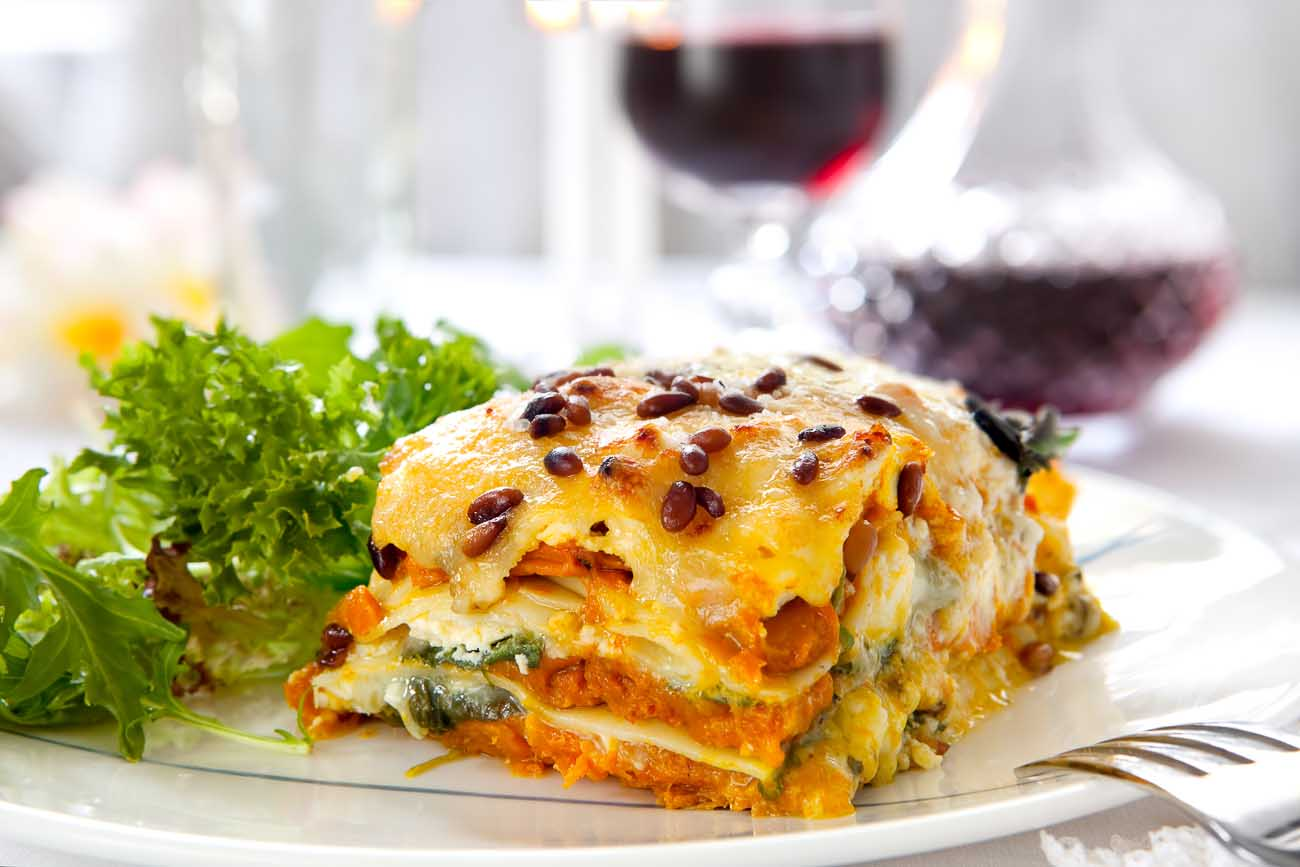 Spinach Basil Cottage Cheese Lasagna Recipe