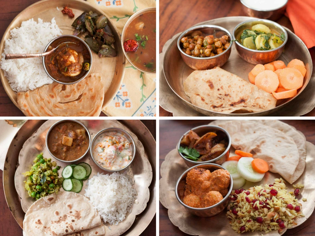 5 Indian Style Healthy Lunch Dinner Plate Ideas