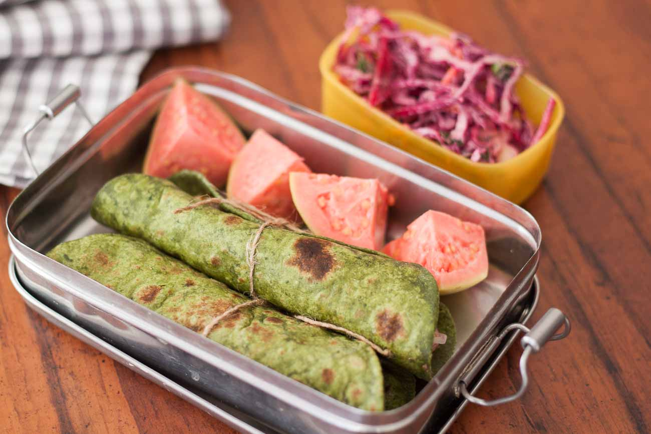 Office kids lunch box palak paneer roll with indian salad by office kids lunch box palak paneer roll with indian salad forumfinder Images
