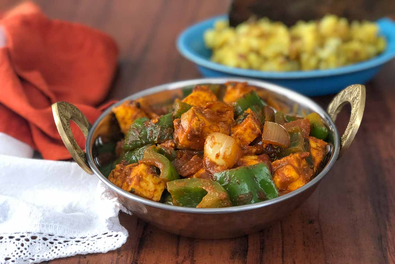 Kadai paneer recipe spiced cottage cheese with green bell peppers kadai paneer recipe spiced cottage cheese with green bell peppers forumfinder Images