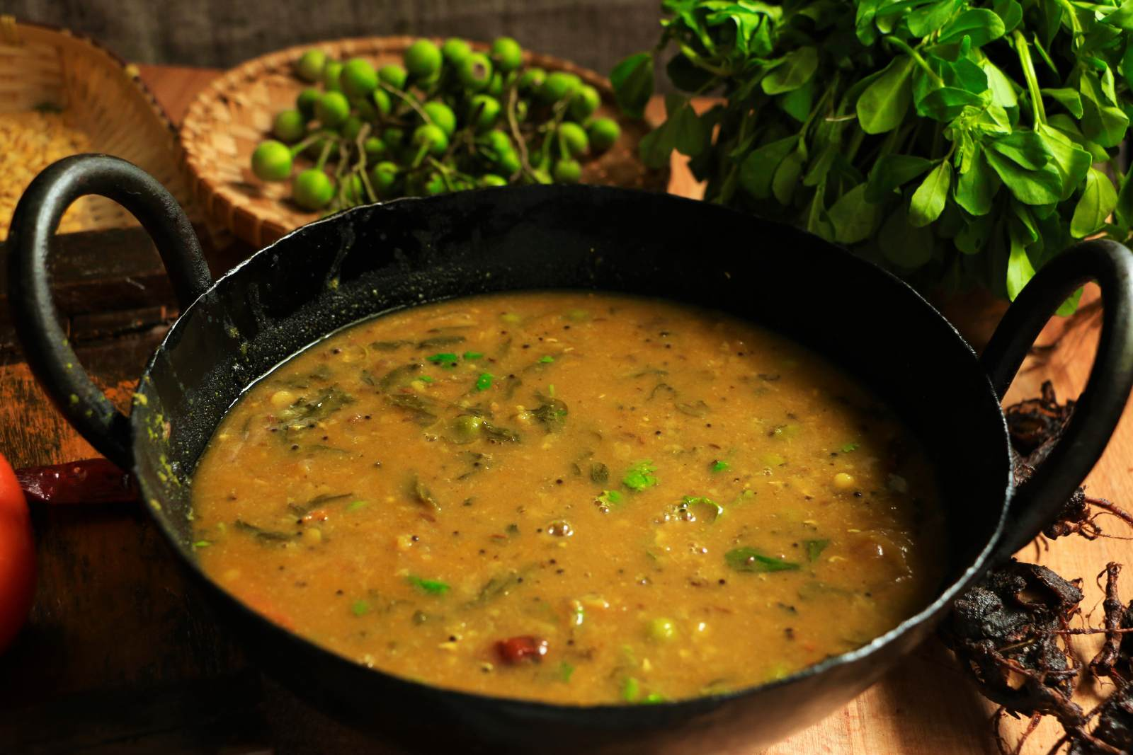 Sundaikkai  Methi Leaves Sambar Recipe by Archanas Kitchen