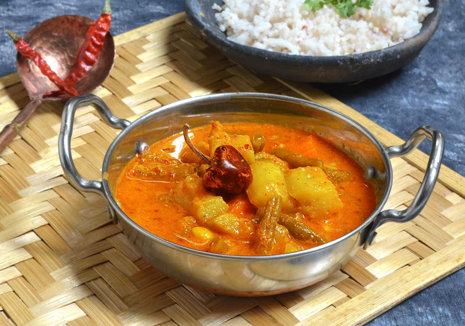 Goan vegetable curry recipe by archanas kitchen goan vegetable curry is a classic dish from goa it is a part of day to day meal it is made with mixed vegetables forumfinder Choice Image