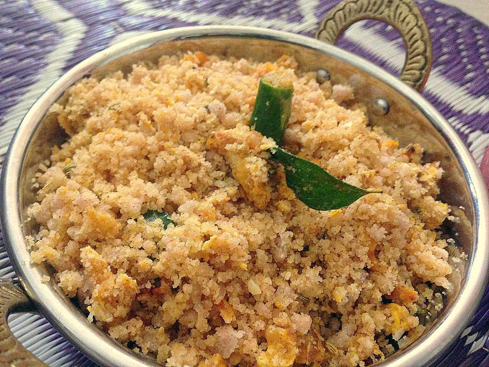 Kerala style puttu upma recipe with scrambled eggs by archanas kitchen kerala style puttu upma recipe with scrambled eggs forumfinder Images