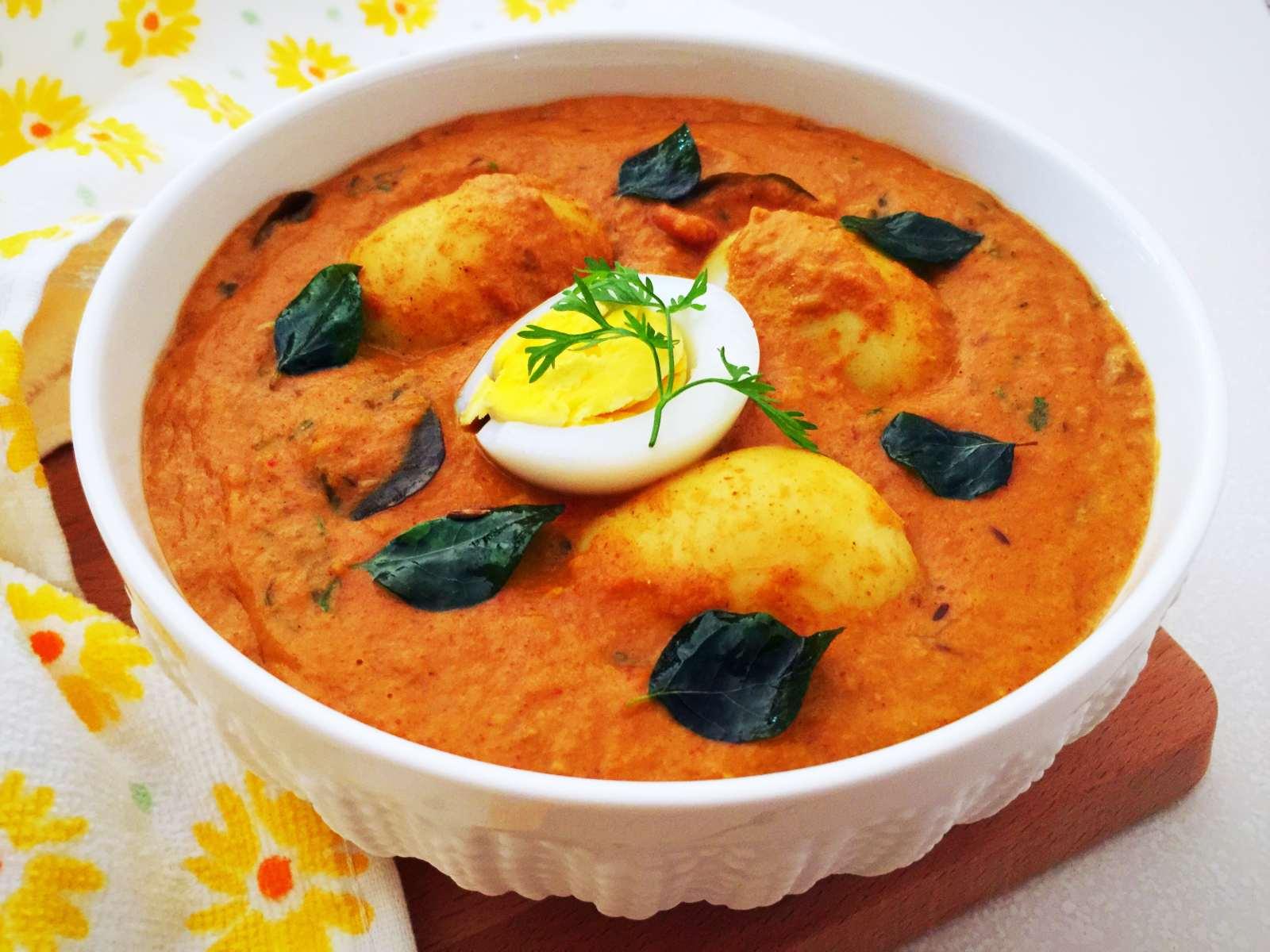 Malvani Anda Curry Recipe Egg Curry With Spicy Malvani Masala