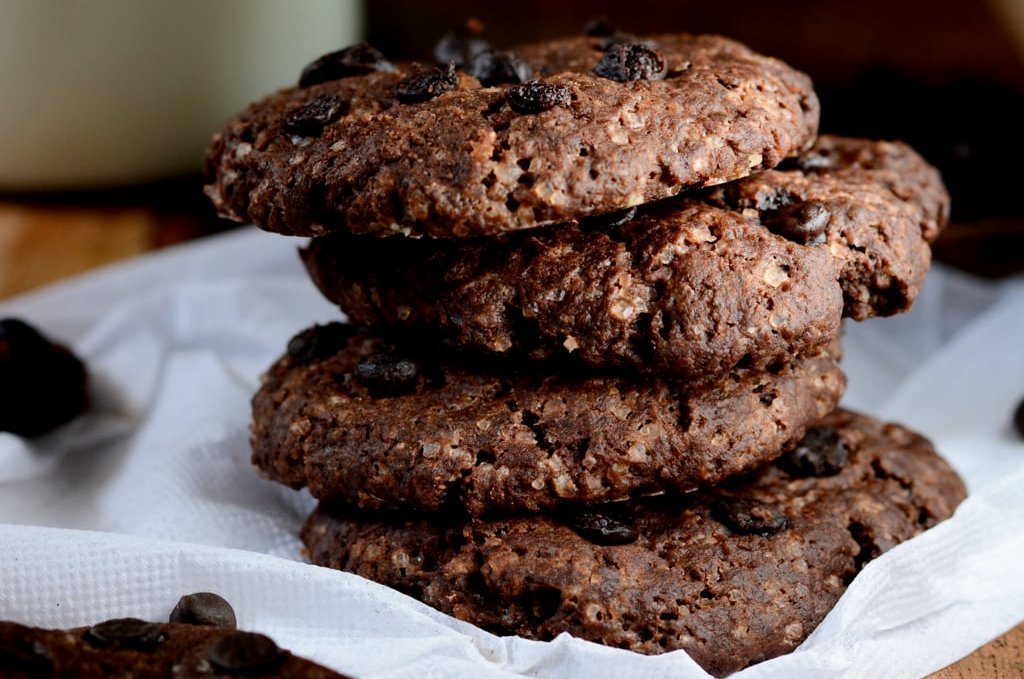 Eggless double chocolate cookies recipes