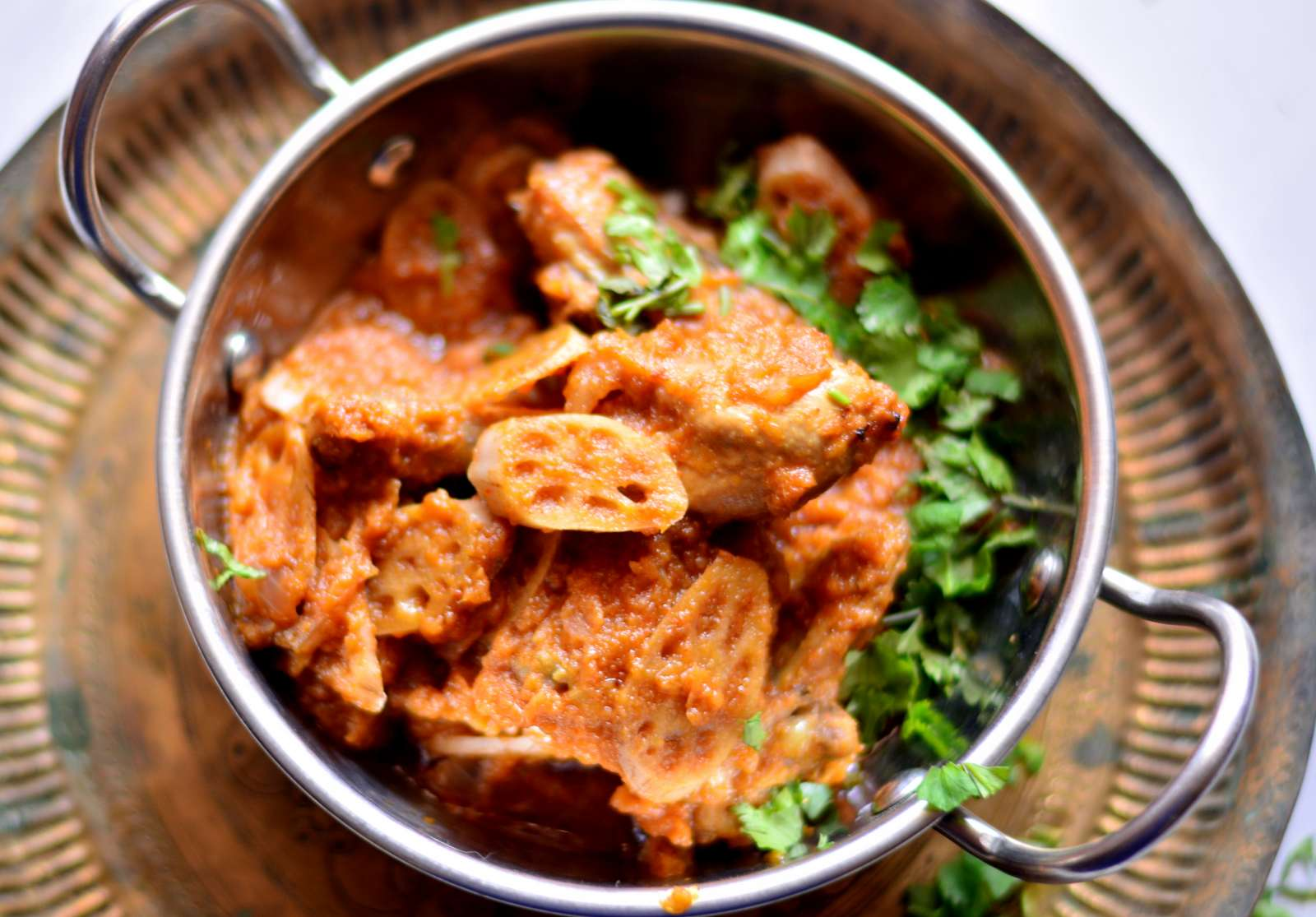 Kashmiri kokur t nadir recipe chicken and lotus stem curry by kashmiri kokur t nadir recipe chicken and lotus stem curry forumfinder Gallery