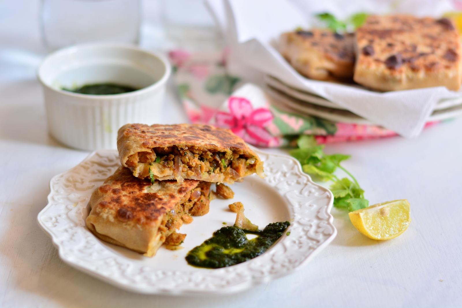 Mughlai keema paratha recipe by archanas kitchen mughlai keema paratha recipe forumfinder Choice Image