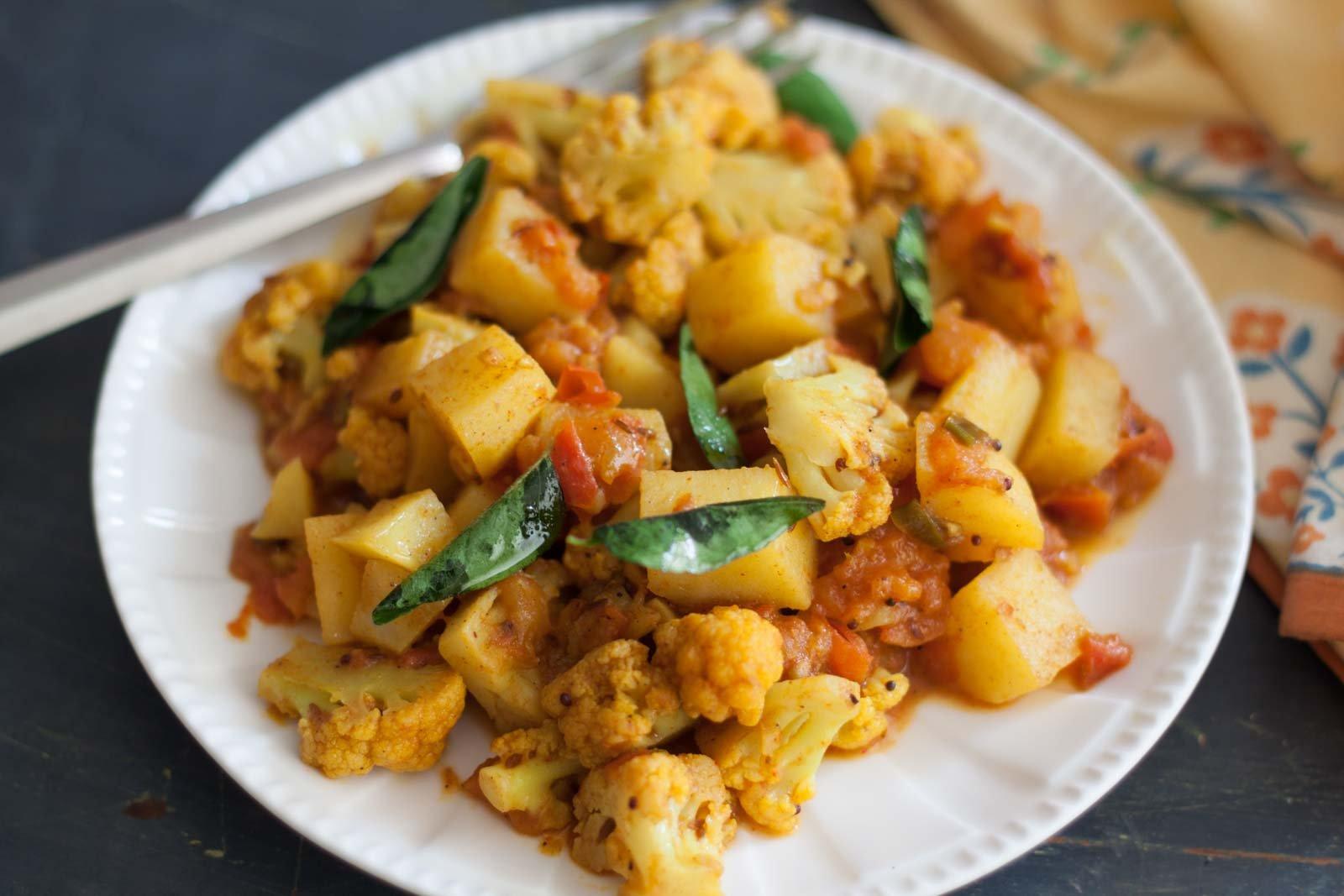 Andhra style tomato cauliflower koora by archanas kitchen forumfinder Images