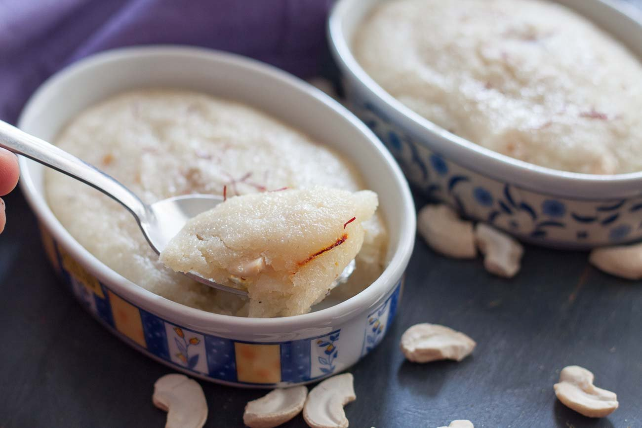 Maharashtrian style semolina and yogurt cake recipe by archanas a delightful dessert made with semolina and yogurt flavoured with saffron and baked forumfinder Gallery