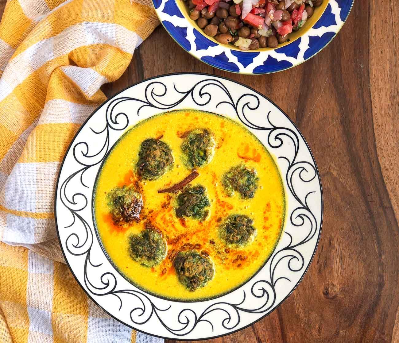 Palak onion kadhi pakora recipe by archanas kitchen palak onion kadhi pakora recipe forumfinder Images