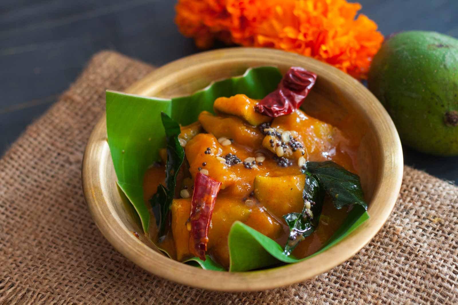 Tamil nadu style manga pachadi recipe mango in spicy and tangy tamil nadu style manga pachadi recipe mango in spicy and tangy curry recipe forumfinder Images