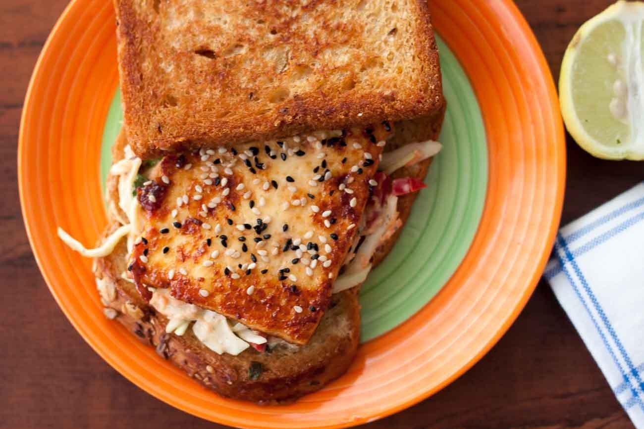 Tofu veggie coleslaw sandwich recipe by archanas kitchen tofu veggie coleslaw sandwich recipe forumfinder Gallery