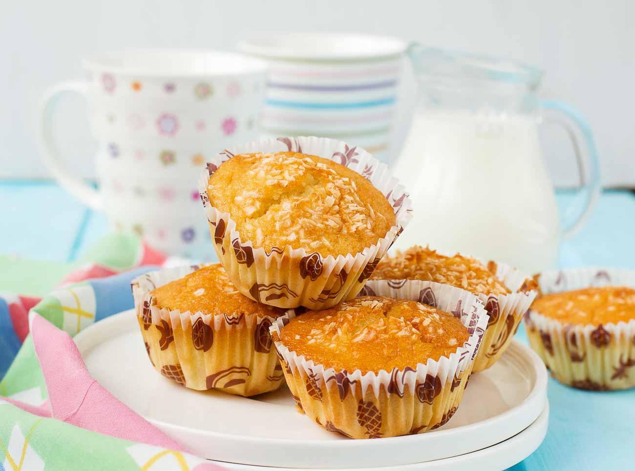 whole wheat pineapple muffins