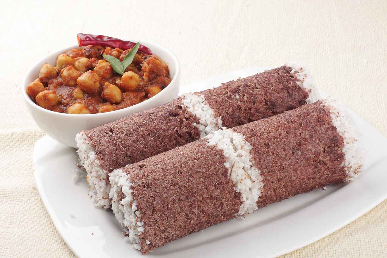 Kerala Style Ragi Puttu Recipe (Steamed Rice Cakes with Coconut)
