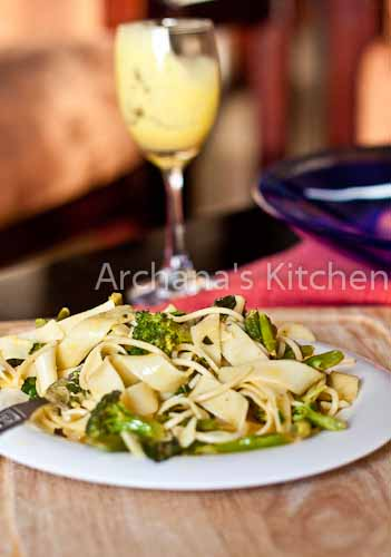 Spring Vegetable_Fettuccine_with_mustard_lemon_basil_sauce-3