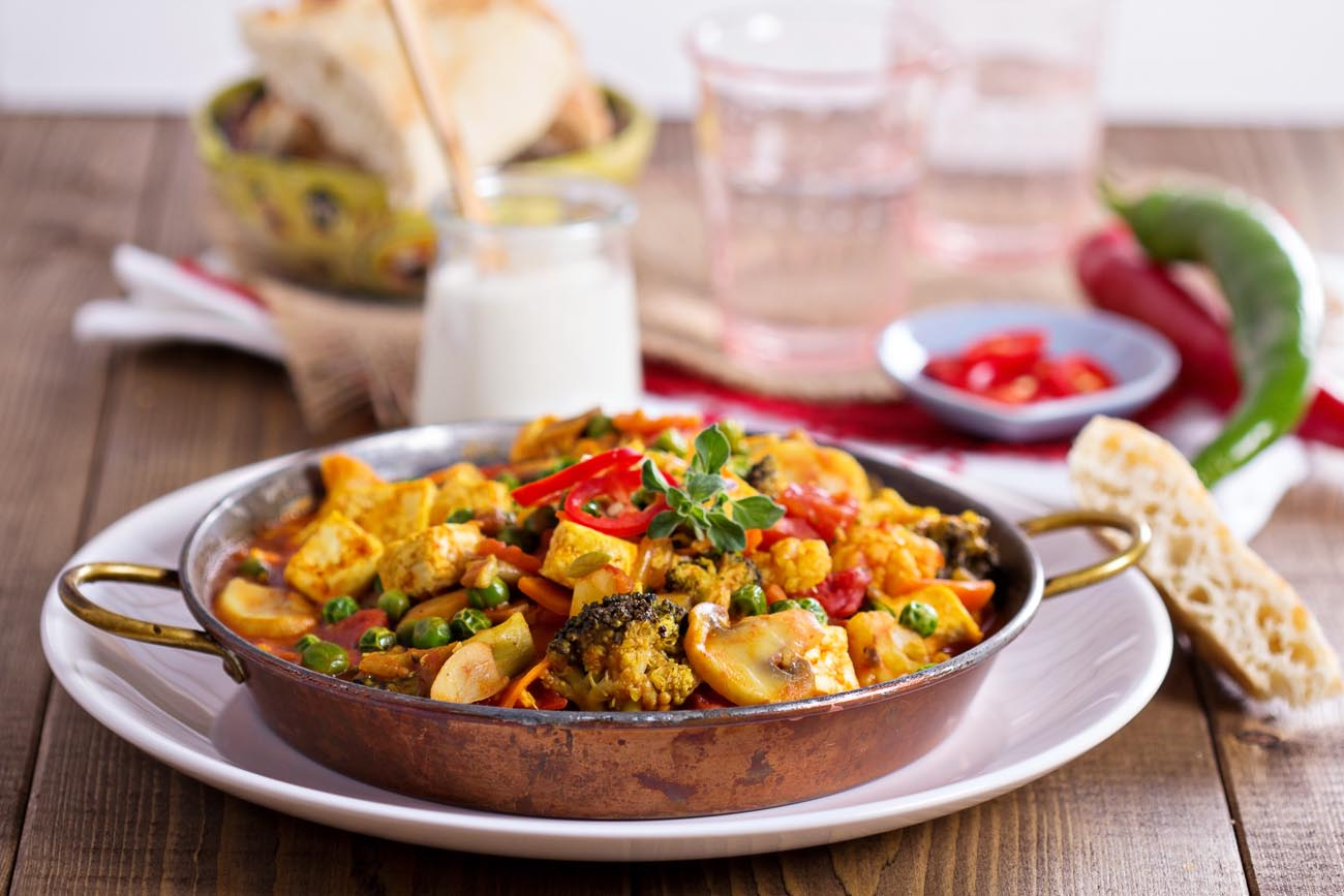 Lemongrass Tofu and Vegetable Curry Recipe by Archanas Kitchen