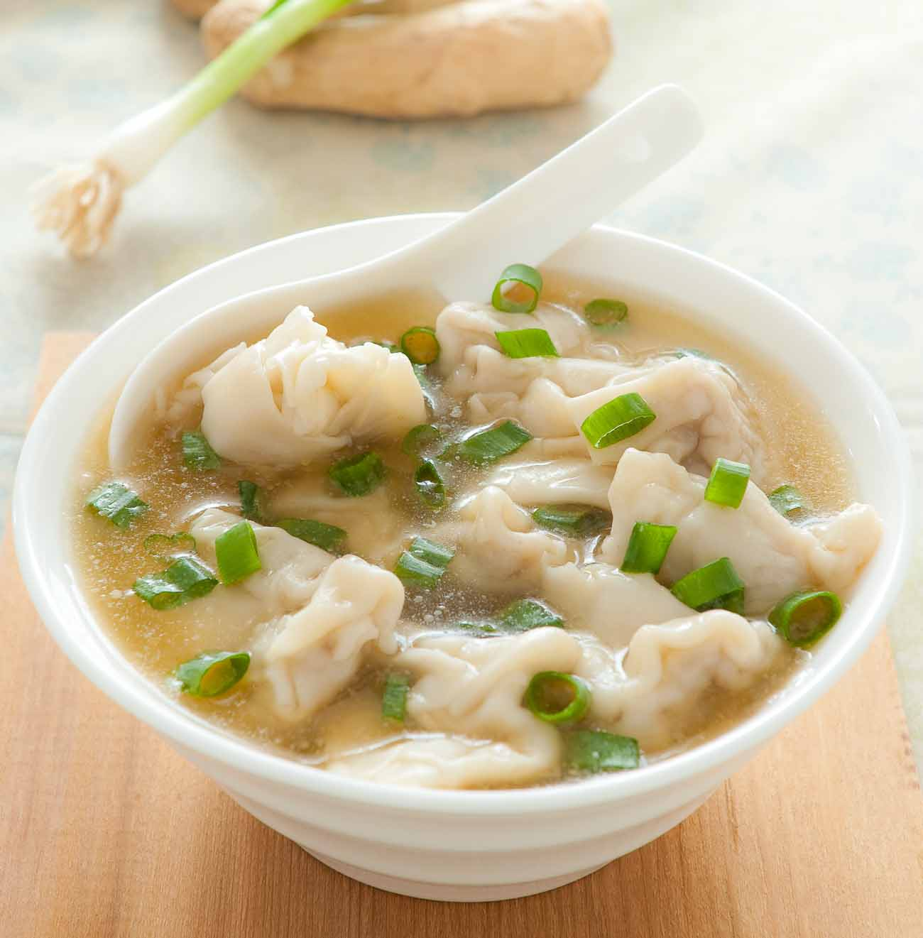 Vegetarian Wonton Soup Recipe by Archanas KitchenSimple