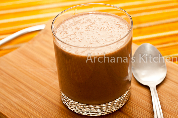 Cocoa Banana Almond Date Smoothie