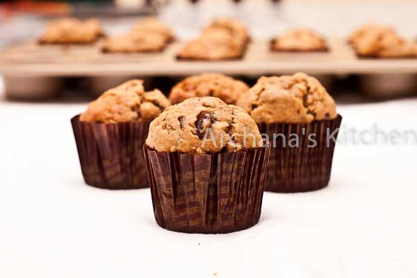 Banana Chocolate Chip Mini Muffins-2