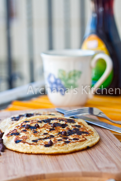 Whole Wheat Chocolate Chip Orange Pancakes