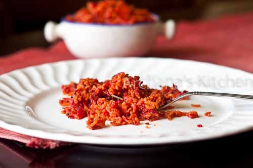 Beetroot rice-2