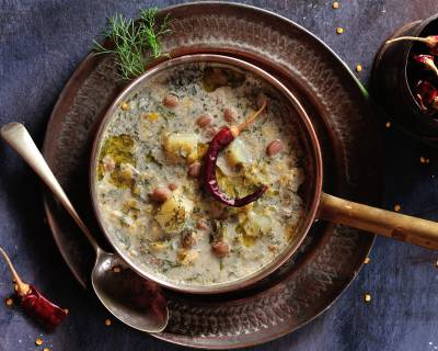 Sabsige Soppu Kootu (Dill Leaf Curry) Recipe