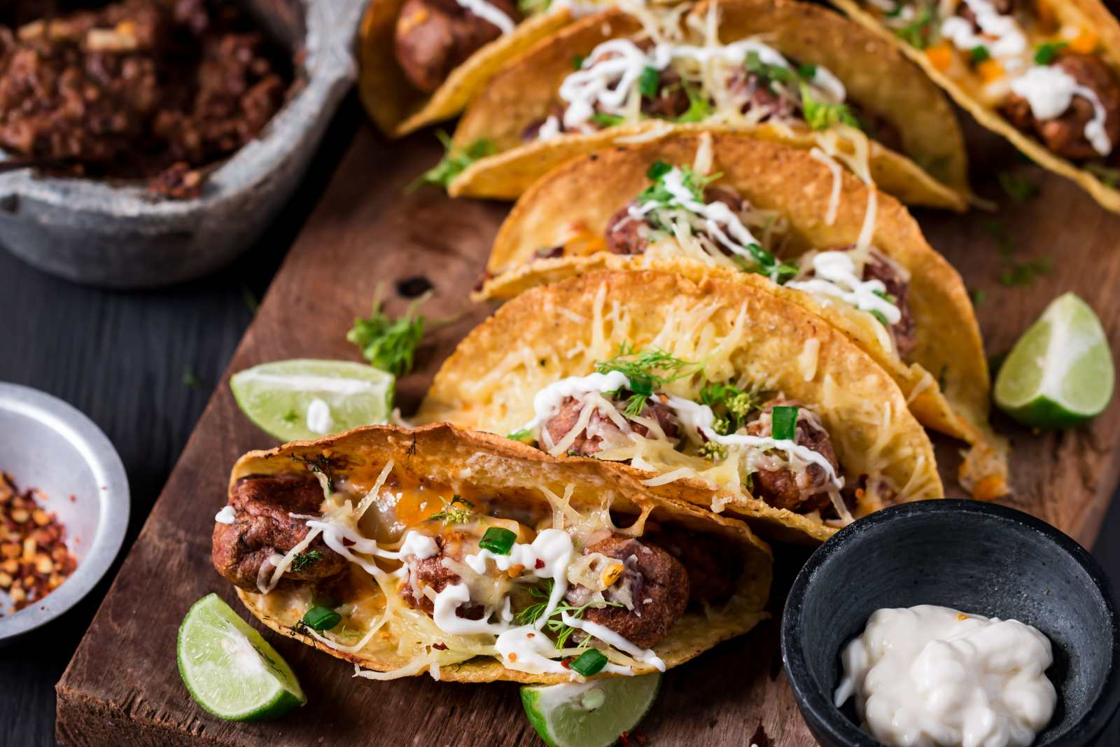 Chicken Meatball Tacos Recipe