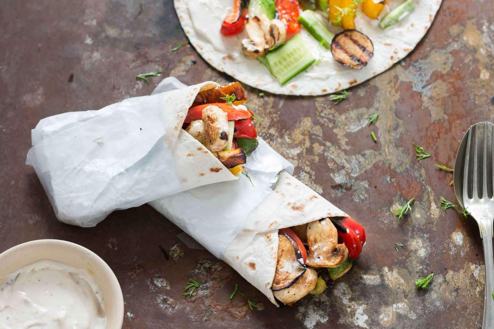 Vegetarian Grilled Gyros Recipe