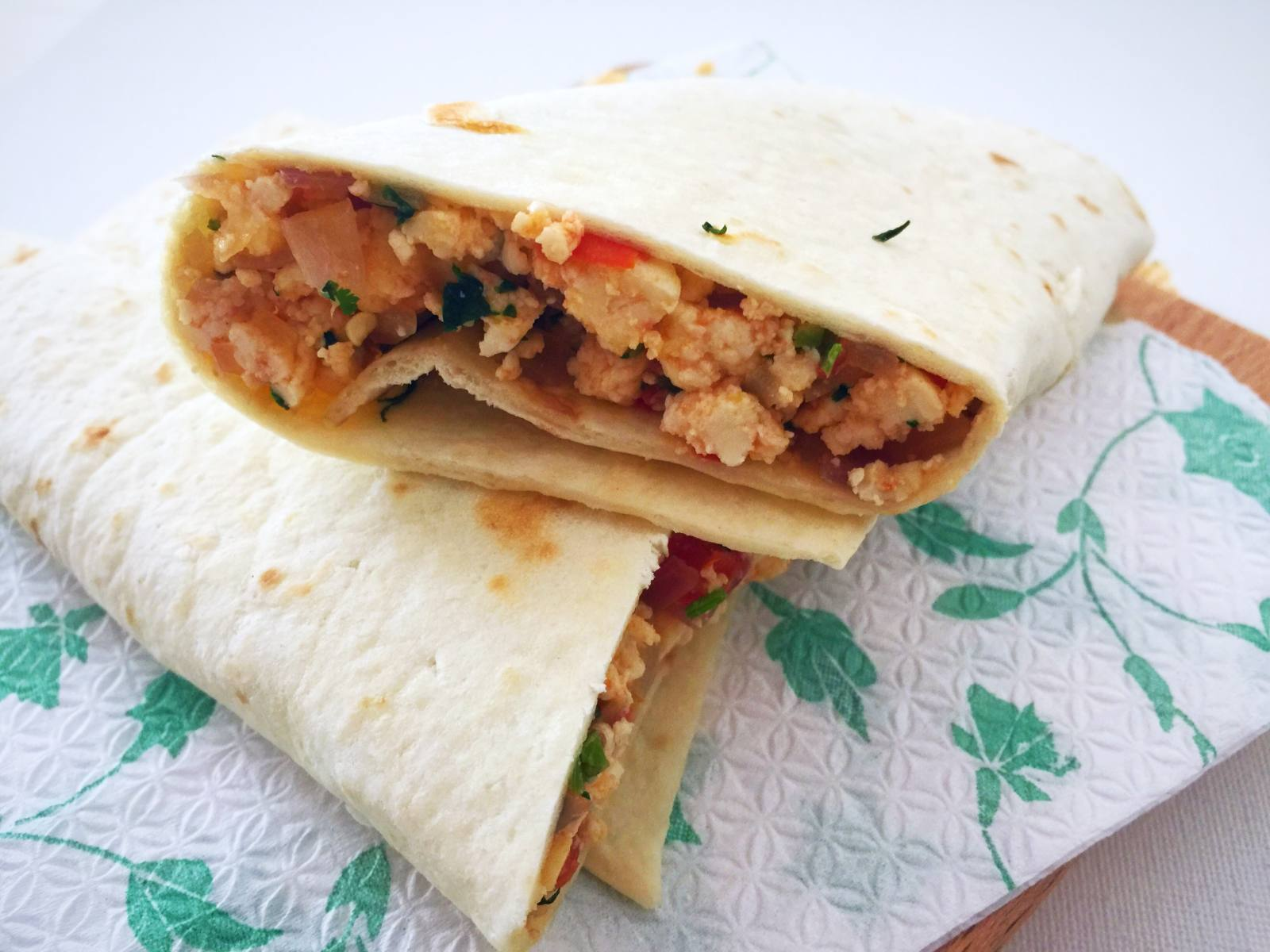 Paneer Bhurji Wraps Recipe