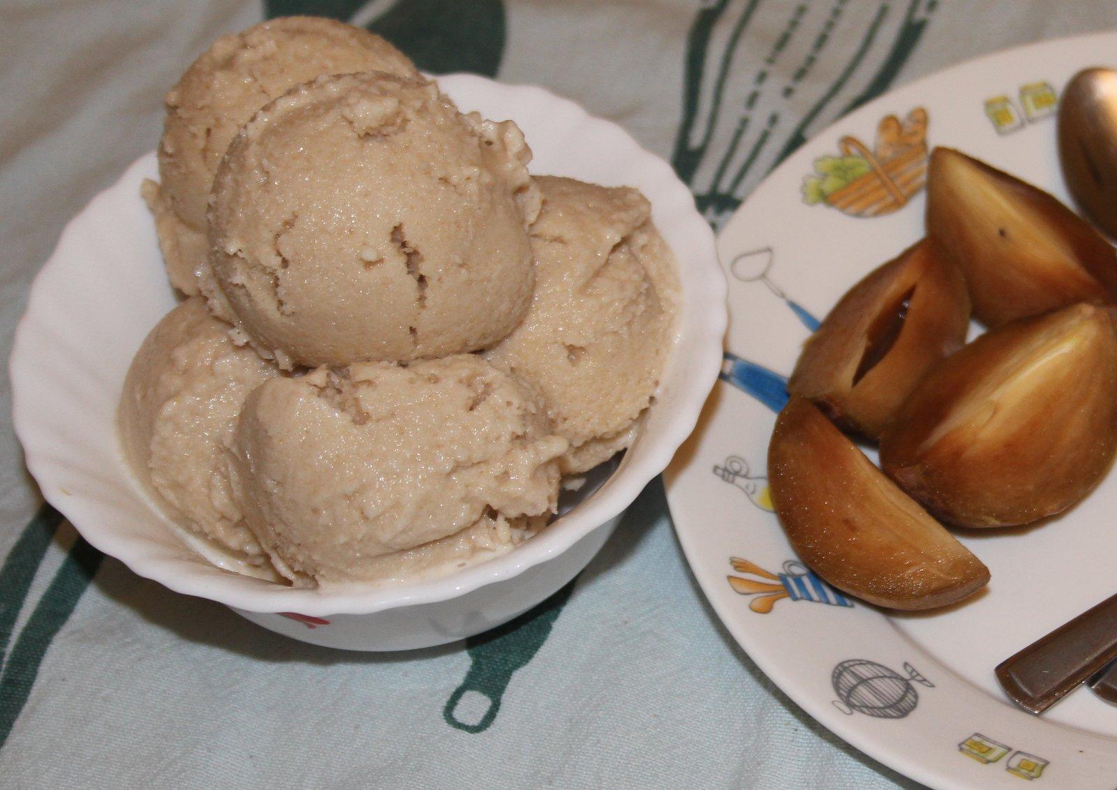 Homemade Chikoo Ice Cream Recipe