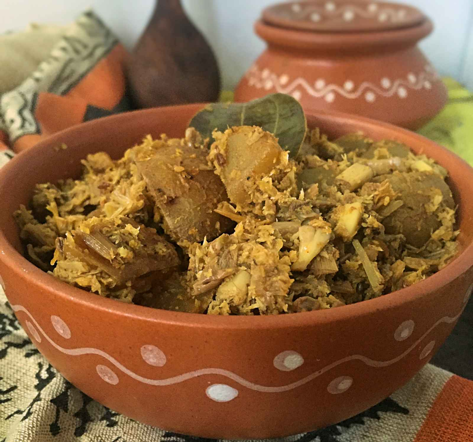 Mochar Ghonto Recipe (Traditional Banana Blossom Curry From West Bengal)