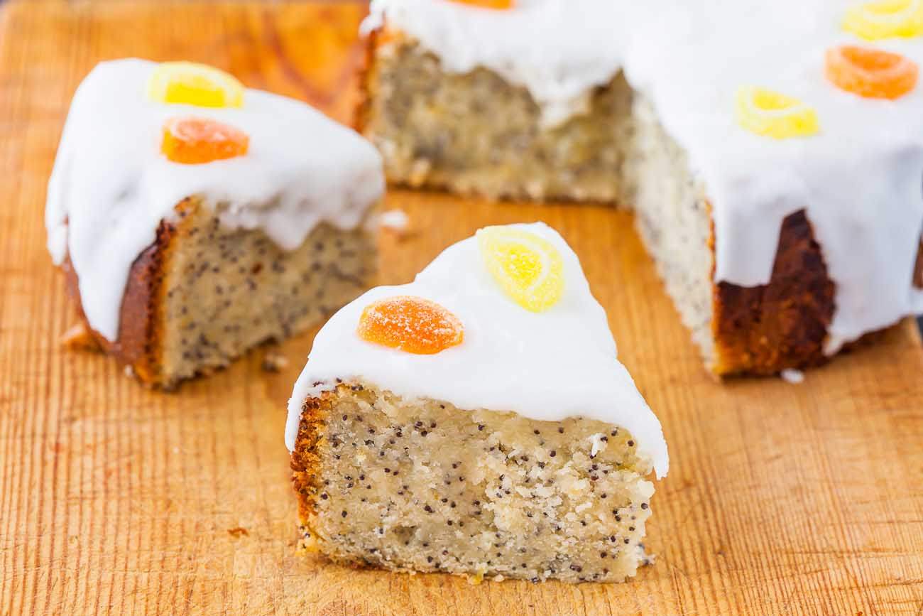 Eggless Lemon Poppy Seed Cake Recipe Vegan Option