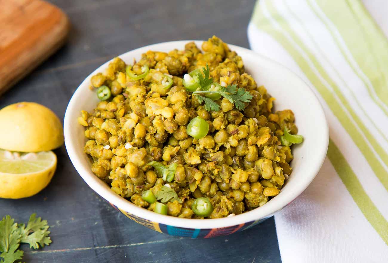 Jain Style Whole Green Moong Dal Sabzi Recipe – Gujarati Vaghareli Mag