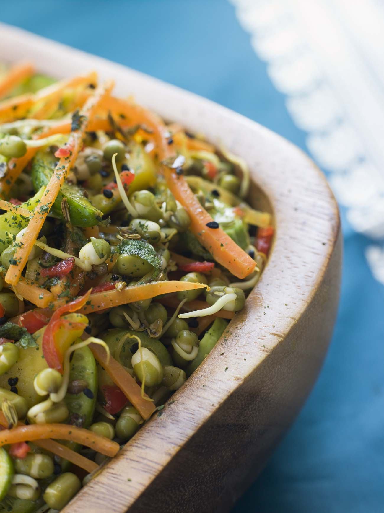 Moong Sprouts Usal Recipe (Indian Salad Chaat)