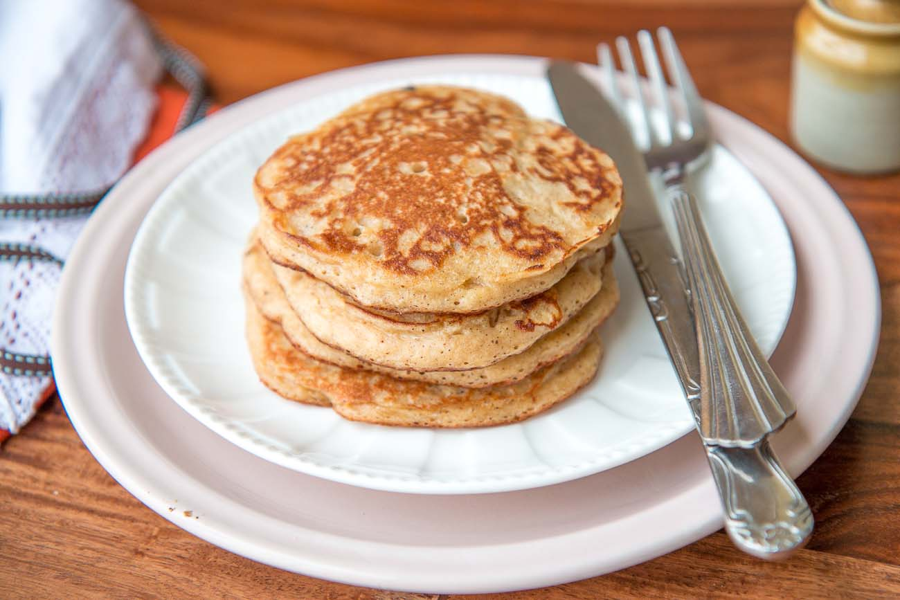 Whole Wheat Buttermilk Banana Pancakes Recipes